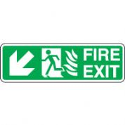 Safe Safety Sign - Fire Door Left Down 090